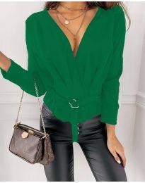 Атрактивна дамска блуза в зелено - код 5525