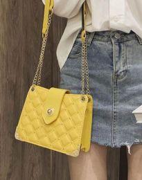 Атрактивна дамска чанта в жълто - код B414