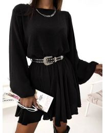 Свободна рокля в черно - код 5088