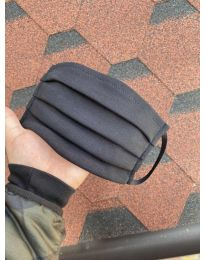 Предпазна памучна маска в черен цвят - 010