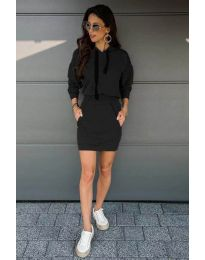 Спортна рокля в черно - код 999