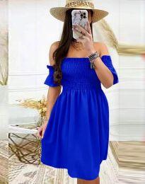 Дамска рокля в тъмносиньо - код 1409