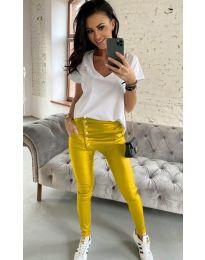 Дамски панталон в жълто - код 954