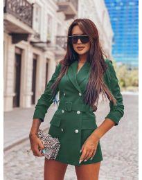 Дамско елегантно сако в зелено - код 834
