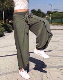 Атрактивна пола-панталон в масленозелено - код 0651