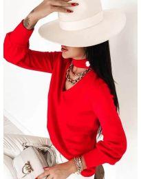 Дамска блуза в червено - код 2133
