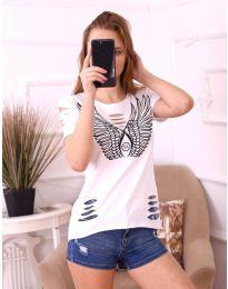 Тениска с крила в бяло - код 3567