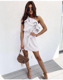 Елегантна рокля в бяло - код 002