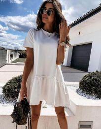 Дамска рокля в бяло - код 4465