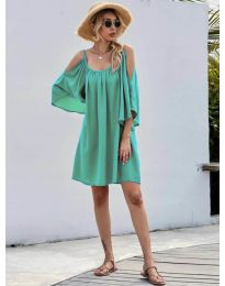 Свободна изчистена рокля в зелено - код 3022