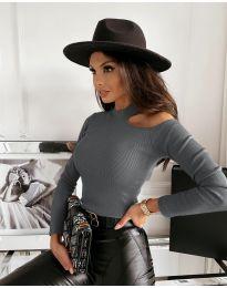 Дамска блуза в сиво - код 4413