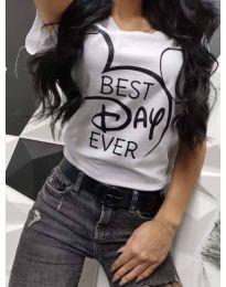 Тениска в бяло - код 469