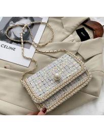 Ефектна чанта в бяло - код B161