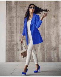 Дамско сако в синьо - код 5212