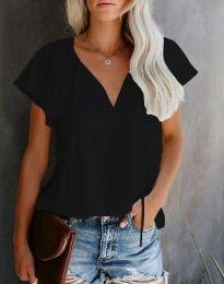 Елегантна дамска тениска в черно - код 6474