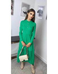 Дълга рокля в зелено - код 185