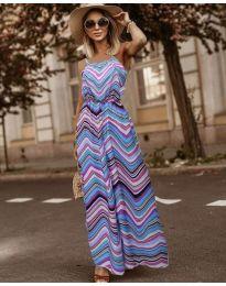 Дълга рокля с атрактивен десен - код 9852