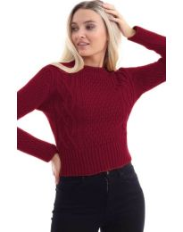 Дамска блуза в бордо - код 145