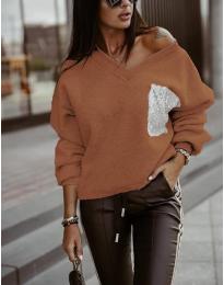 Дамска блуза в кафяво - код 904