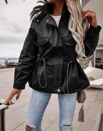 Атрактивно дамско яке в черно - код 7866