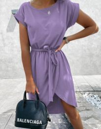Дамска рокля в светлолилаво - код 2074