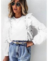 Дамска блуза в бяло - код 6615