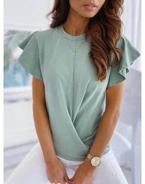 Дамска тениска тип прегърни ме в цвят мента - код 515