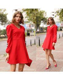 Дамска рокля в червено - код 1478