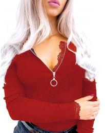 Дамска блуза в червено - код 4046