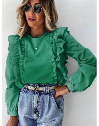 Дамска блуза в зелено - код 6615