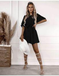 Атрактивна дамска рокля в черно - код 13131