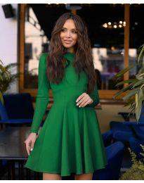 Елегантна рокля в зелено - код 2320