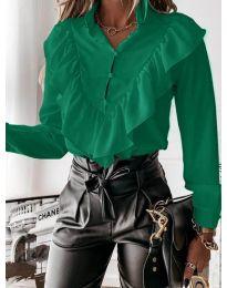 Дамска риза в зелено - код 9032