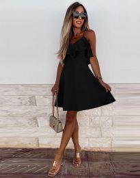 Атрактивна дамска рокля в черно - код 2739