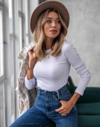 Изчистена дамска блуза в бяло - код 5930