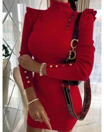 Елегантна рокля по тялото в червено - код 8484