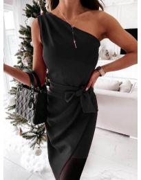 Елегантна рокля в черно- код 6442