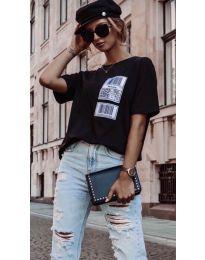 Дамска тениска в черно - код 963