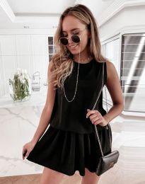 Атрактивна дамска рокля в черно - код 6612