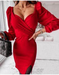 Елегантна рокля в червено - код 2595