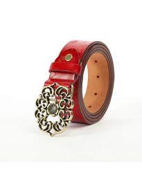Дамски колан в червено - код P97