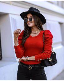 Дамска блуза в червено - код 4448