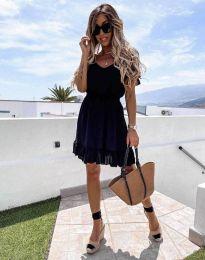 Кокетна рокля в черно - код 6460