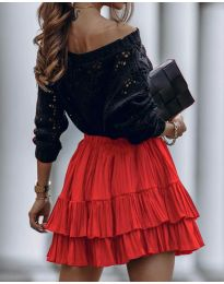 Стилна пола в червено - код 4122