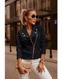 Дамско късо яке в черно - код 794