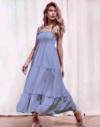 Ефирна дамска рокля в светлосиньо - код 1729