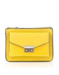 Дамска чанта в жълто - код D8506