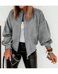 Дамско късо яке в сиво  - код 7745
