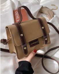Дамска чанта в цвят бежово - код B429