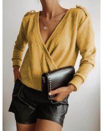 Дамска блуза в цвят горчица - код 294